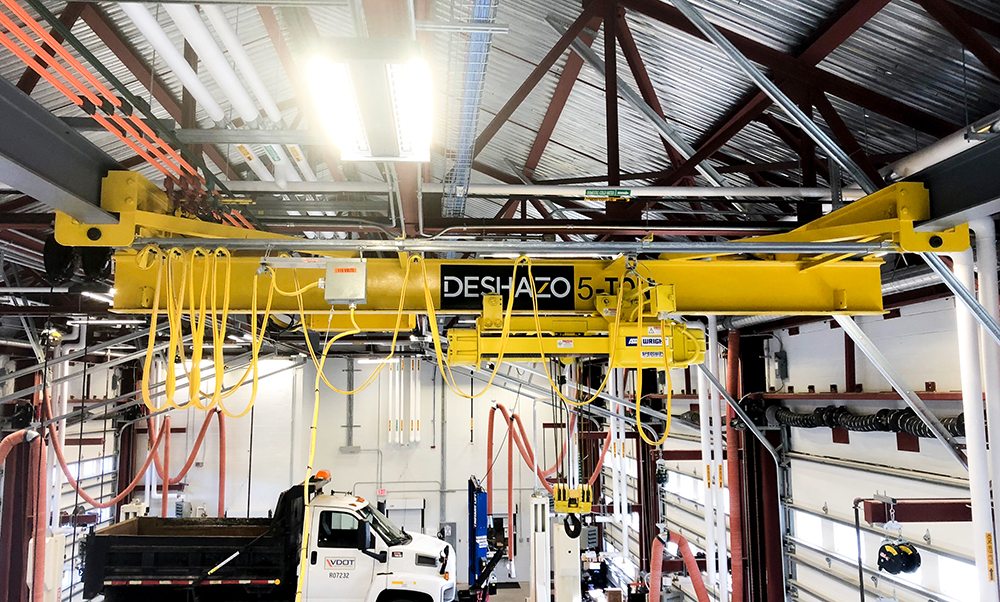 DeShazo 5 Ton Overhead Electric Bridge Crane wtih ACCO Work Rated Wire Rope Hoist