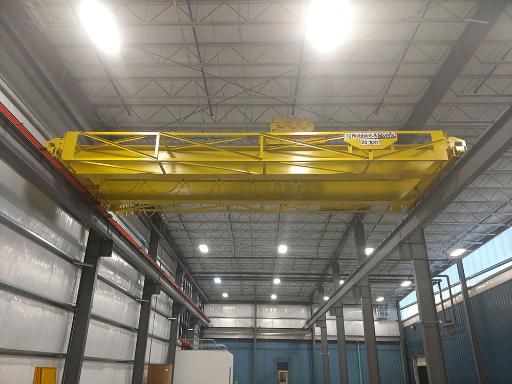20 Ton R&M Double Girder Bridge Crane with Wire Rope Hoist